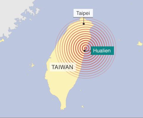 台湾東部地震