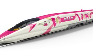 JR西日本のキティ仕様の新幹線の全容が明らかに、予約も開始されこの夏の行楽はキティでGO!
