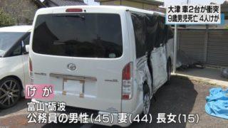 【大津市・自動車事故】早朝の国道でハイエース衝突、9歳の息子が死亡